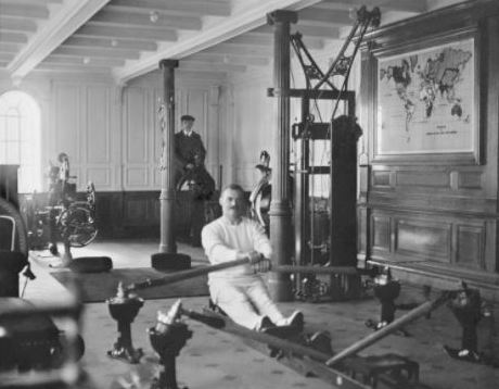 Gymnasium on the Titanic, 1912